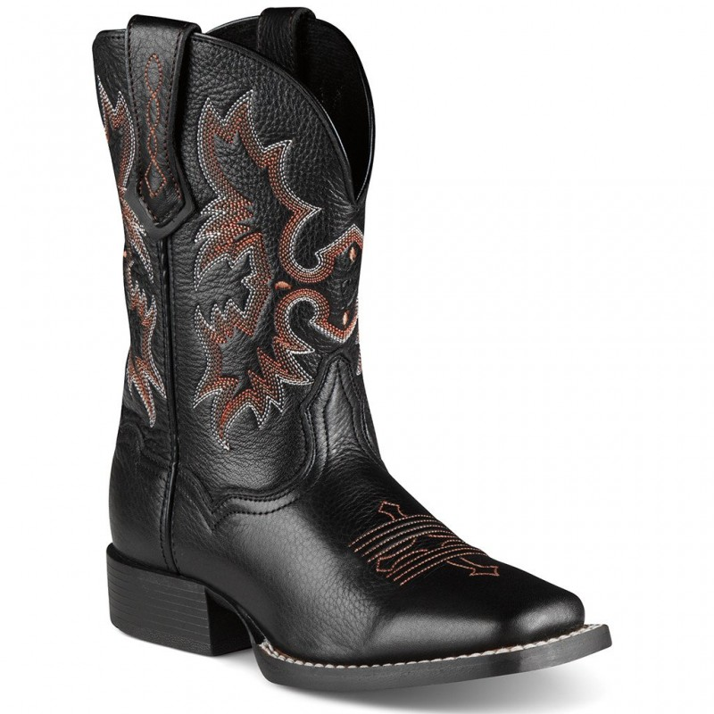 bec2b0bdb10 Ariat Kid's Tombstone Western Square Toe Boots