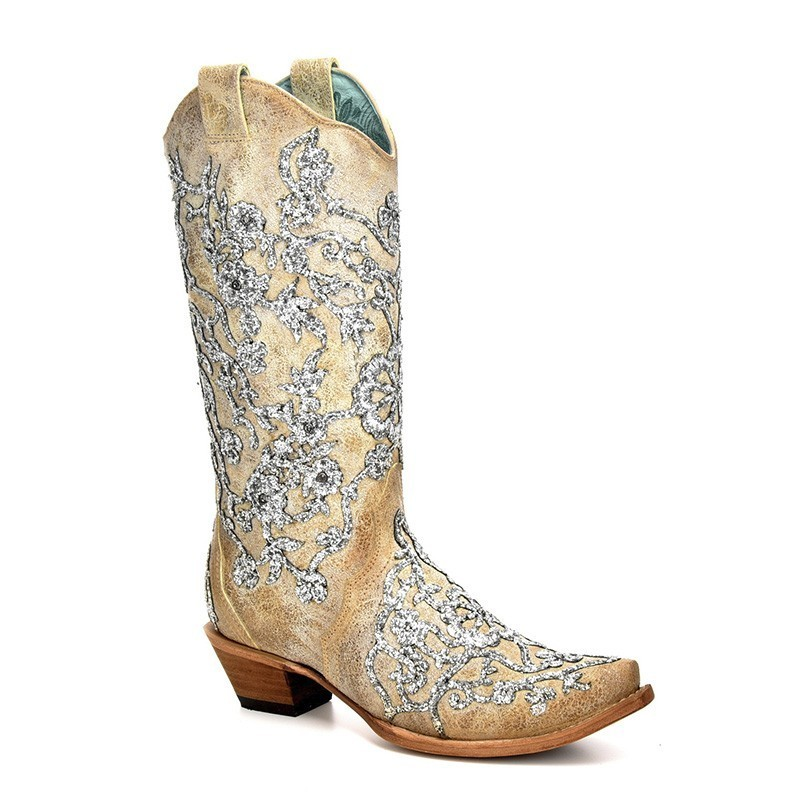Corral Women's Bone Glitter...