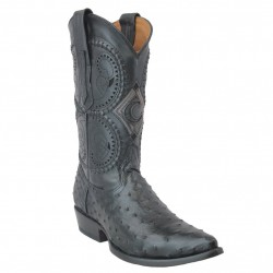 Cuadra Men's Black Ostrich...