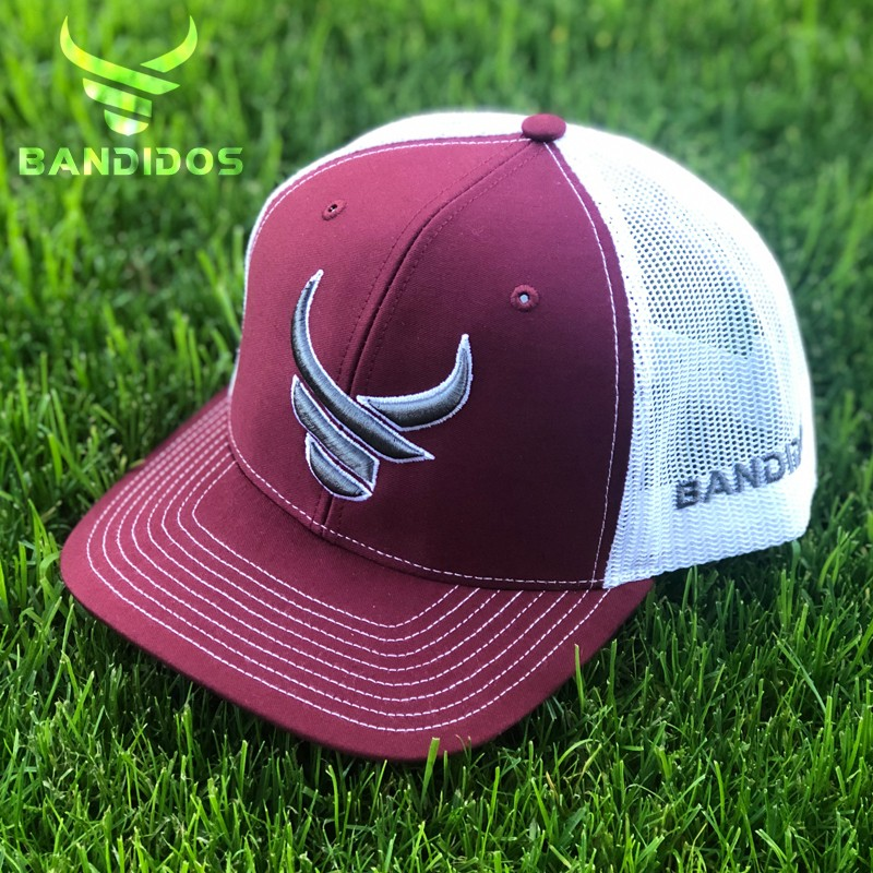 Bandidos Hat Burgundy/White